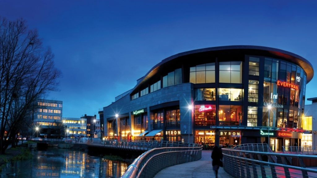 Shopping centre by the water in Central Essex