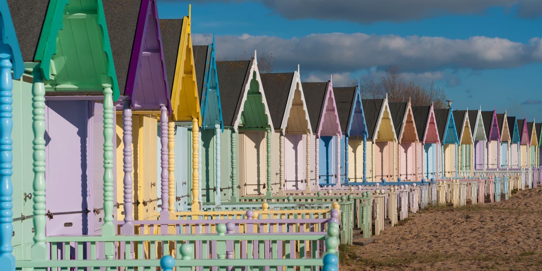 Colourful beach huts found in East Essex