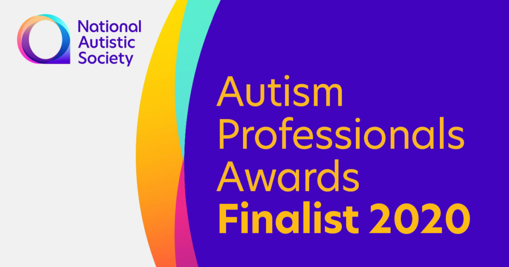National Austistic Society, Autism Professionals Awards Finanlist 2020 Banner